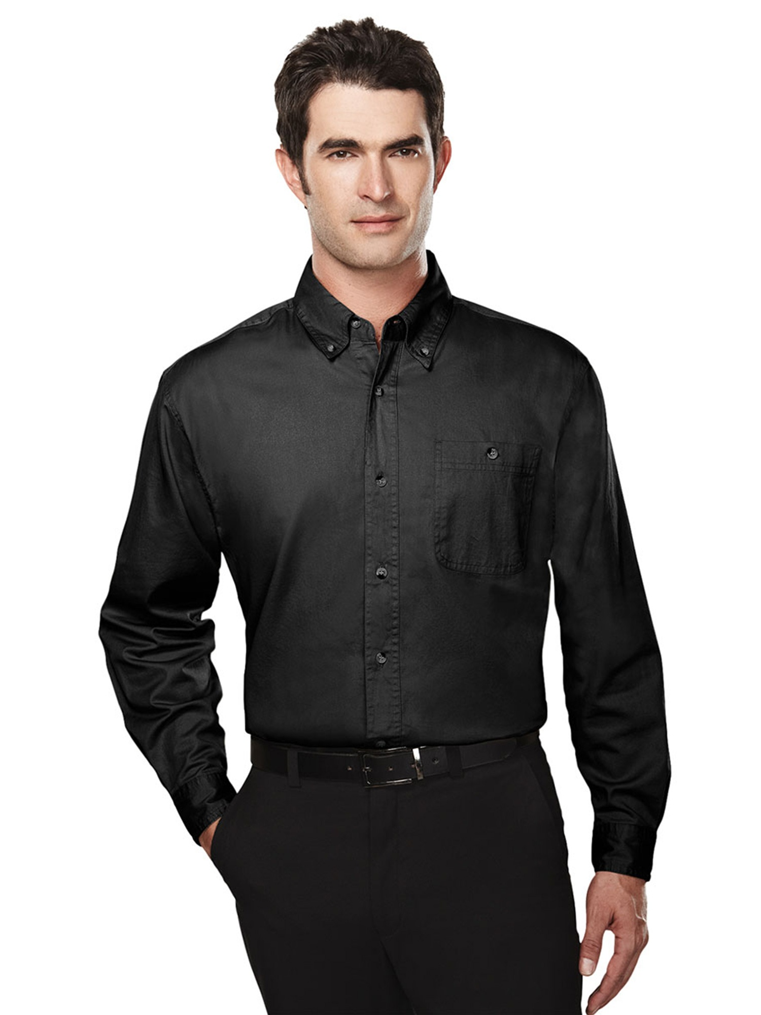 Tri-Mountain Men's Big And Tall Button Pocket Dress Shirt