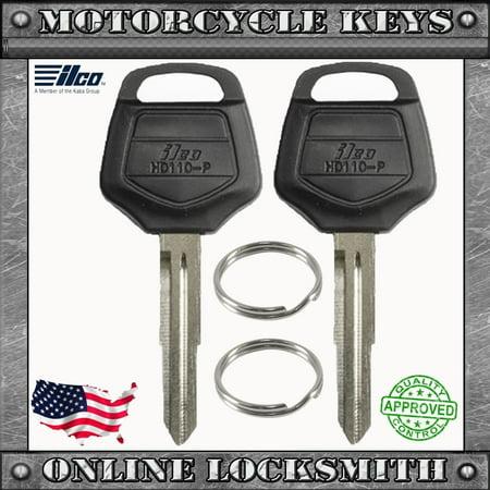 2 New Uncut Key For Honda Goldwing 2001+ Motorcycles Keyway XHD110-P ()