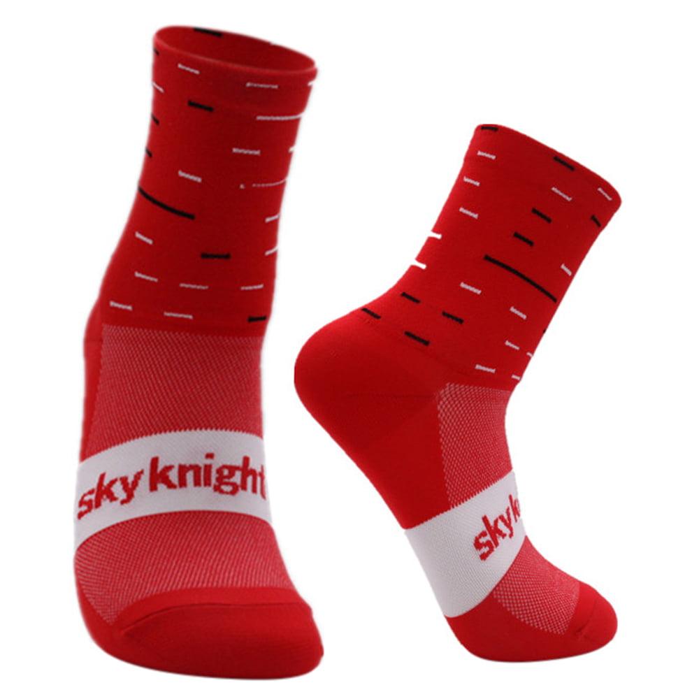 Music Legs 5726 Women/'s White Knee Socks Athletic Reg Red Pink or Black Stripes
