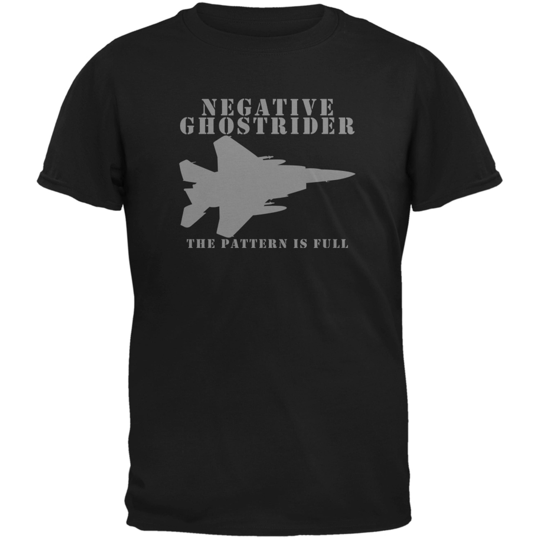 Negative Ghostrider Pattern Is Full Black Adult T-Shirt