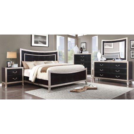 New Contemporary Elegant Bedroom Furniture 4pc Set Black
