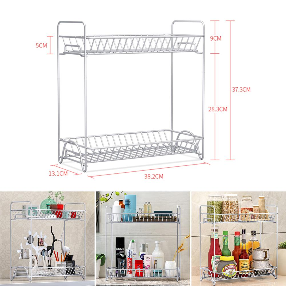 Countertop Spice Rack 2 Tier Kitchen Cupboard Pantry Jar Organiser Shelf Storage