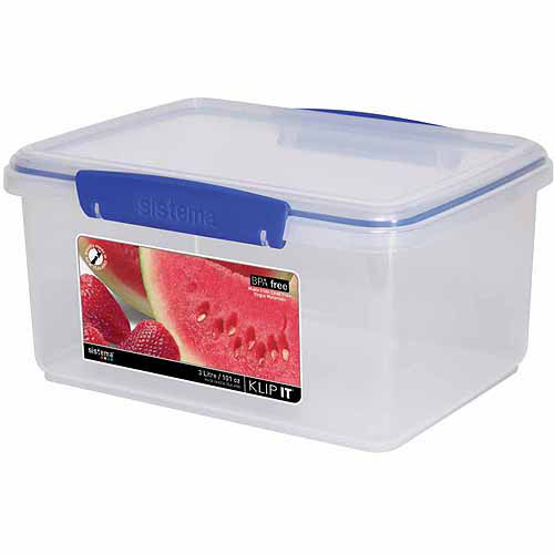 Sistema US 21 Cup Rectangle Storage Container