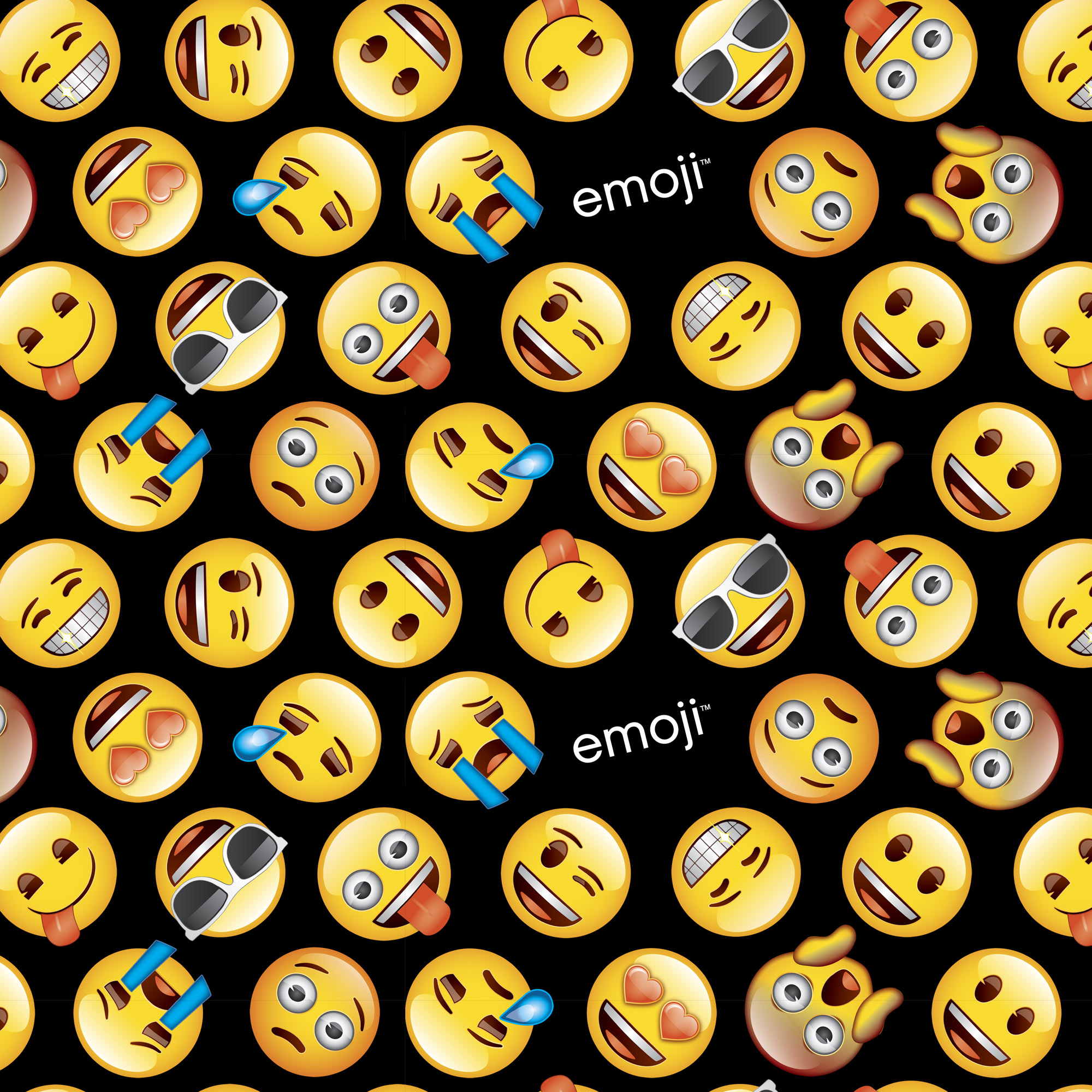 David Textiles Cotton Precut Fabric Classic Emoji 1 Yd X 44 Inches
