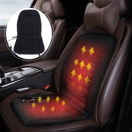 1/2x 12V Car Heated Seat Cover Cushion Gift Hot Warm Heating Warmer Winter 1Pcs Universal Vehicle SUV Truck Van Perfect for Cold Weather and Winter Driving
