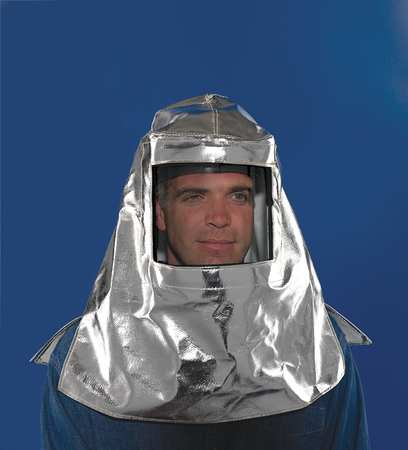 KAREWEAR Hood With Shield, Aluminized Carbon Kevlara(R), 755ACK