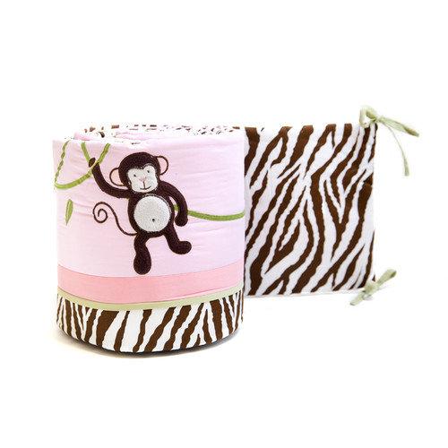 Pam Grace Creations Jolly Molly Monkey Crib Bumper