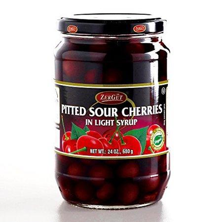 Zergut Pitted Sour Cherries 24 Oz Each  3 Items Per Order