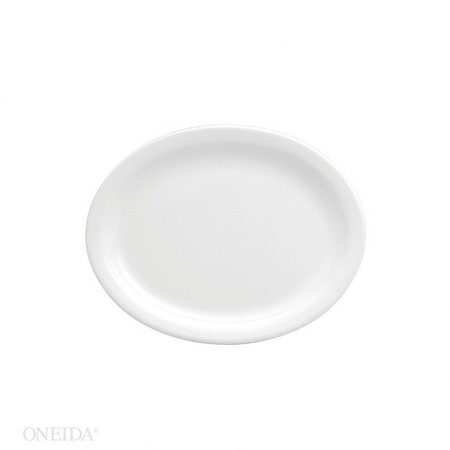 Oneida F8000000359 Buffalo Bright White Narrow Rim Platter 11 1/2 12-1 Each