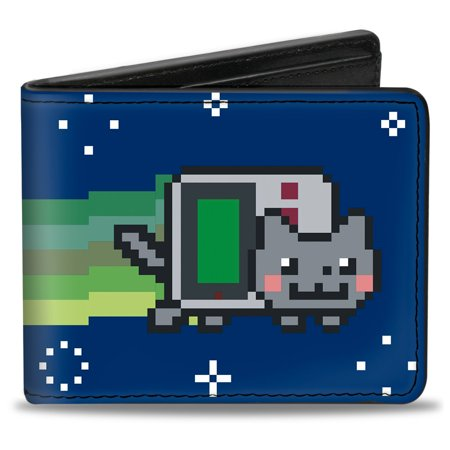Nyan Cat Youtube Video Meme Gameboy Cat Bi Fold Wallet