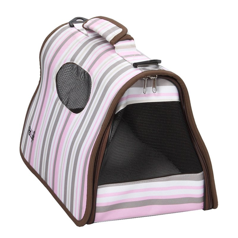 Pet Life Airline Approved Zippered Folding Cage Carrier