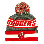 Wisconsin Badgers Top of the World Cumulus Pom Knit Beanie
