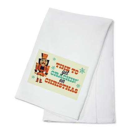 Nutcracker - Retro Christmas - Lantern Press Artwork (100% Cotton Kitchen Towel)