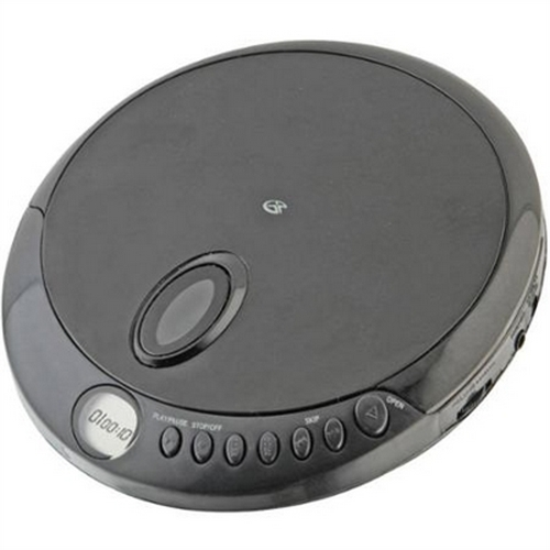 Refurbished GPX PC301B Portable CD Player with Stereo Earbuds and Anti-Skip Protection by GPX