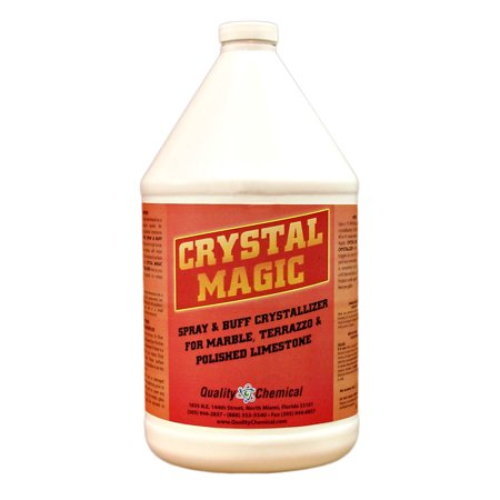 Crystal Magic Marble Polish & Crystallizer - 1 gallon (128 (Best Cleaner For Marble Shower Floors)
