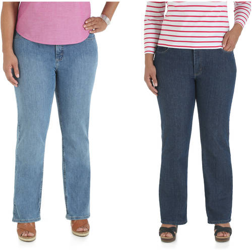Riders by Lee Women's Plus-Size Straight Leg Relaxed Fit Jeans, Your Choice (Petite, Regular, or Long)