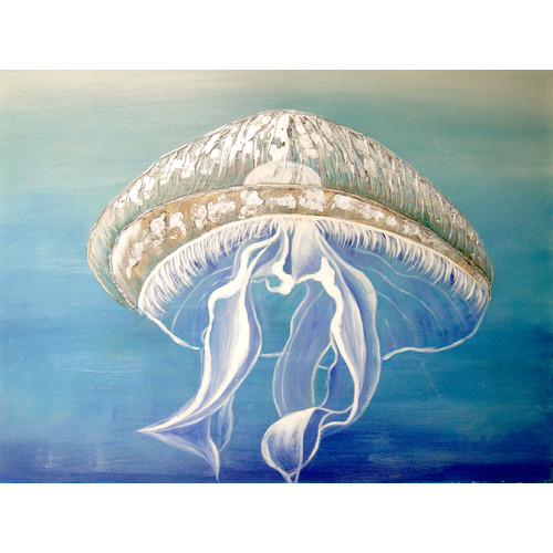 HDC International Jelly Fish Painting Print on Wrapped Canvas