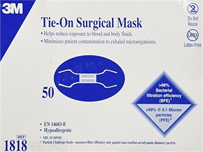 3m tie-on surgical mask