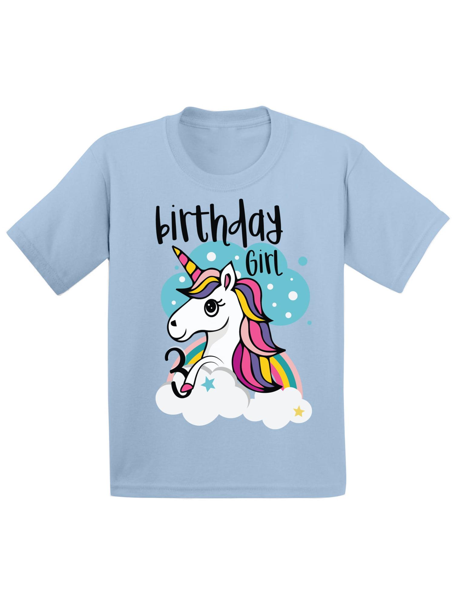 Awkward Styles Birthday Girl Toddler Raglan Unicorn Tshirt 4th Birthday Party