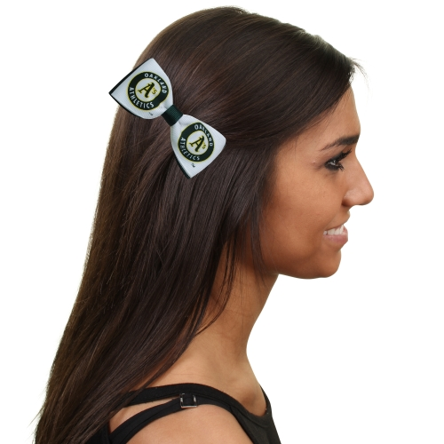 Oakland Athletics Women's Bow Pair Clips - No Size