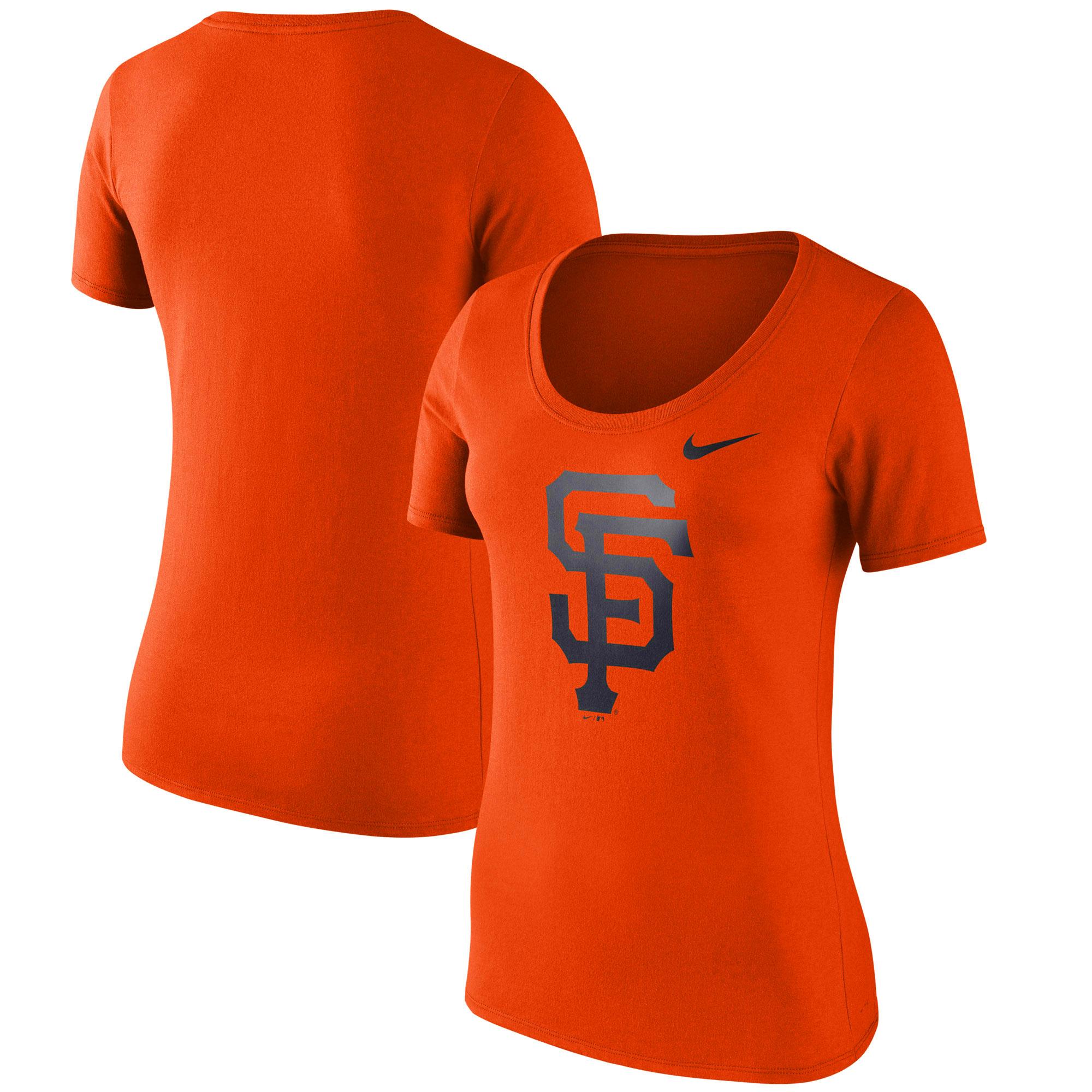 San Francisco Giants Nike Women's Logo Scoop Neck T-Shirt - Orange