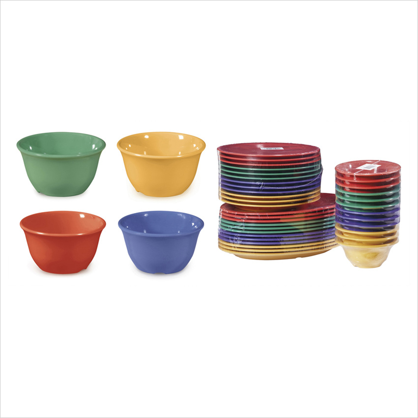 Diamond Mardi Gras 7 oz 4 x 2 Bowl Mix Pack of 4 Mardi Gras Colors Melamine/Case of 48