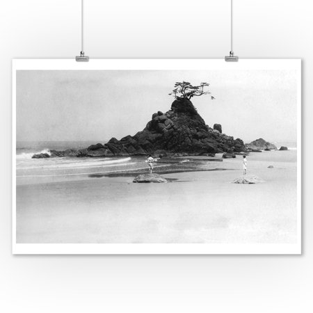 Rabbit Rock Near Gleneden, Oregon Pacific Ocean Photograph (9x12 Art Print, Wall Decor Travel Poster)](Halloween Photo Op Board)