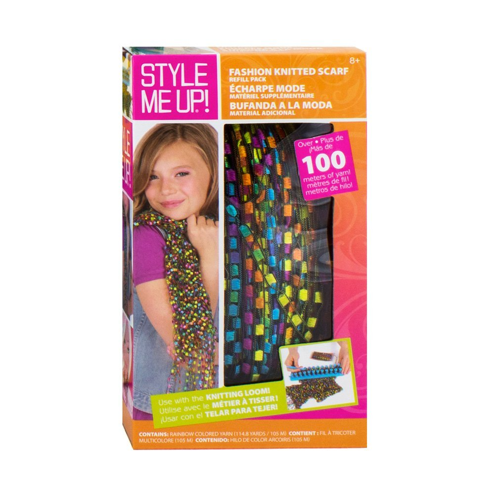 ! Yellow Rainbow Yarn Kids Art Crafts, Fashion knitted scarf refill pack By Style Me Up Ship from US