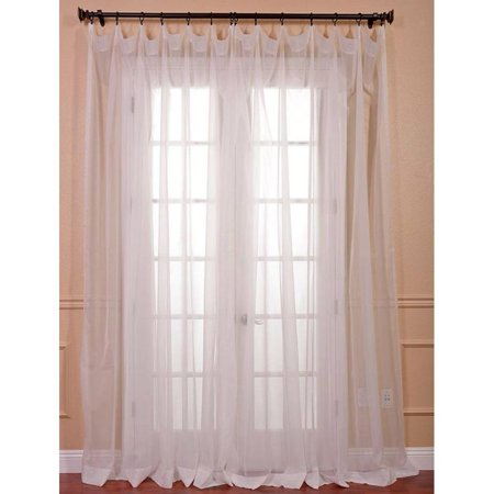 - Exclusive Fabrics & Furnishing Signature Double Wide Layered Sheer Curtain Exclusive Fabrics & Furnishing Signature Double Wide Layered Sheer Curtain: 84-in x 100-in