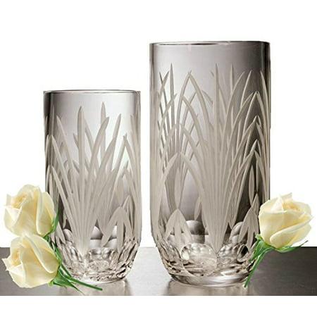 Decorative Flower Vase - GAC Mouth Blown High Class Glass Crystal Flower Vase, Exquisite Decorative Vase Centerpiece -10