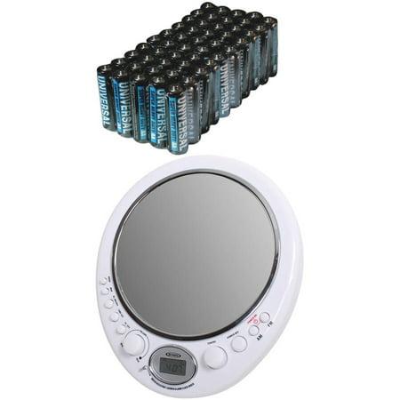 Jensen JWM-150 AM/FM Alarm Clock Shower Radio with Mirror ...