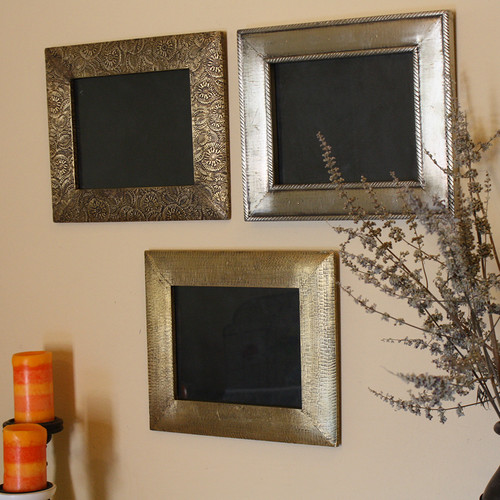 Timbergirl 3 Piece Brass Clad Wood Picture Frame Set