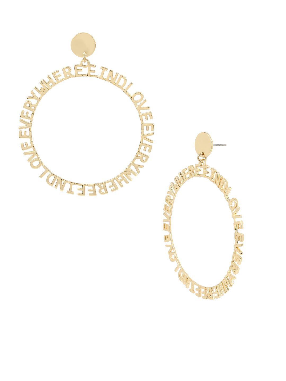 Affirmation Goldtone Gypsy Hoop Earrings