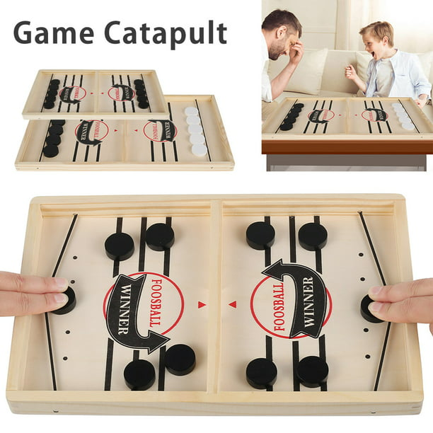 Willstar Fast Sling Puck Game Paced SlingPuck Winner Board Family Games Kinder Spielzeug Hockey Table Game-Small Size