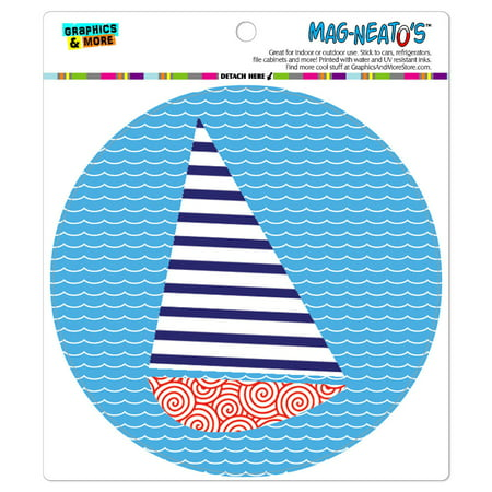 Sailboat Nautical Theme Wedding Bon Voyage - Circle MAG-NEATO'S(TM) Car/Refrigerator - Wedding Magnets