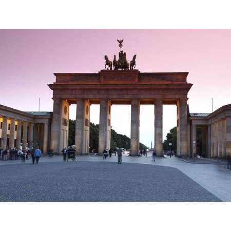 Brandenburg Gate at Sunset, Pariser Platz, Unter Den Linden, Berlin, Germany, Europe Print Wall (Gate Unter Den Linden Berlin)