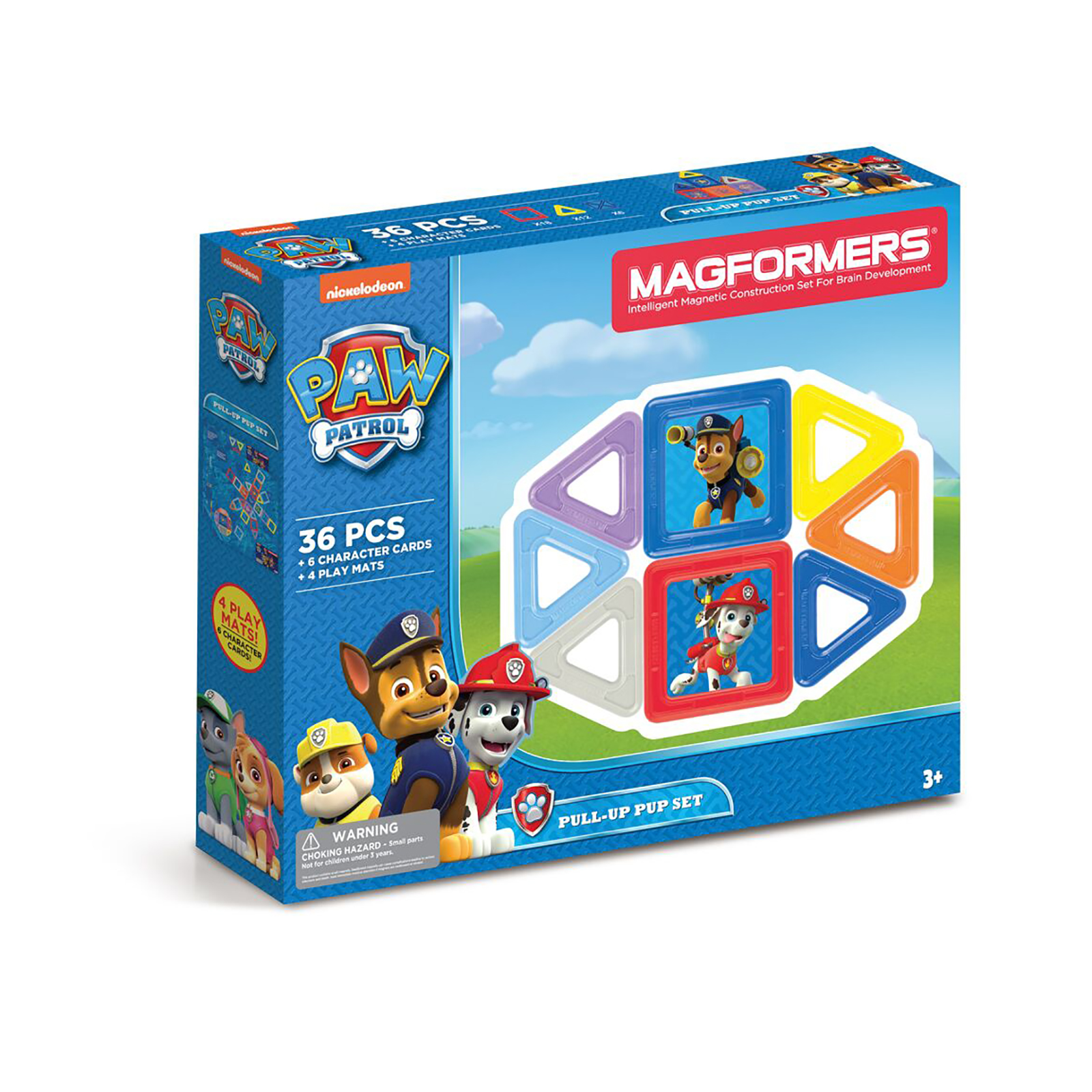 Paw Patrol 36Pc Pull Up Pup Set