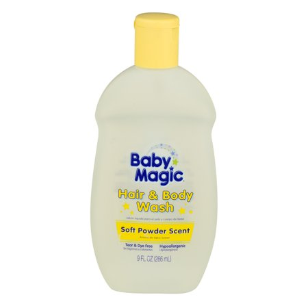 Baby Magic Hair & Body Wash Soft Powder Scent, 9.0 FL OZ - Baby Powder In Hair Halloween