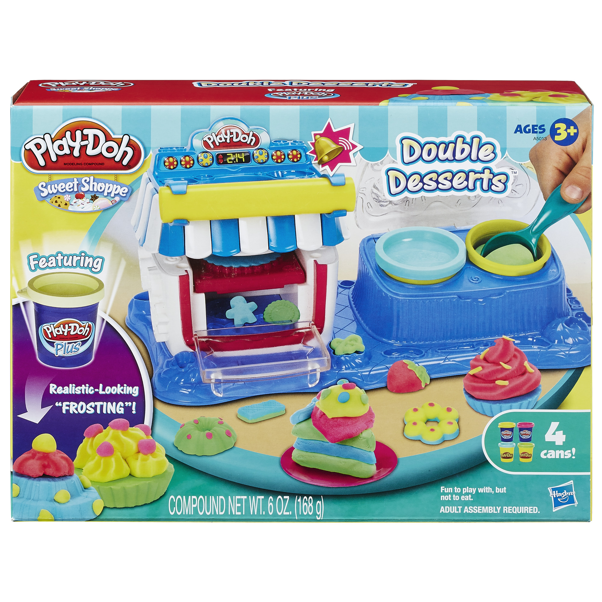 Play-Doh Sweet Shoppe Double Desserts Food Set with 4 Cans of Dough