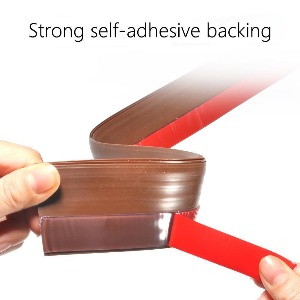 Aramox Seal strip Strong self adhesive,100cm Silicone Rubber Door Strip Self Adhesive Backing Door Seal for Window or Door Gap
