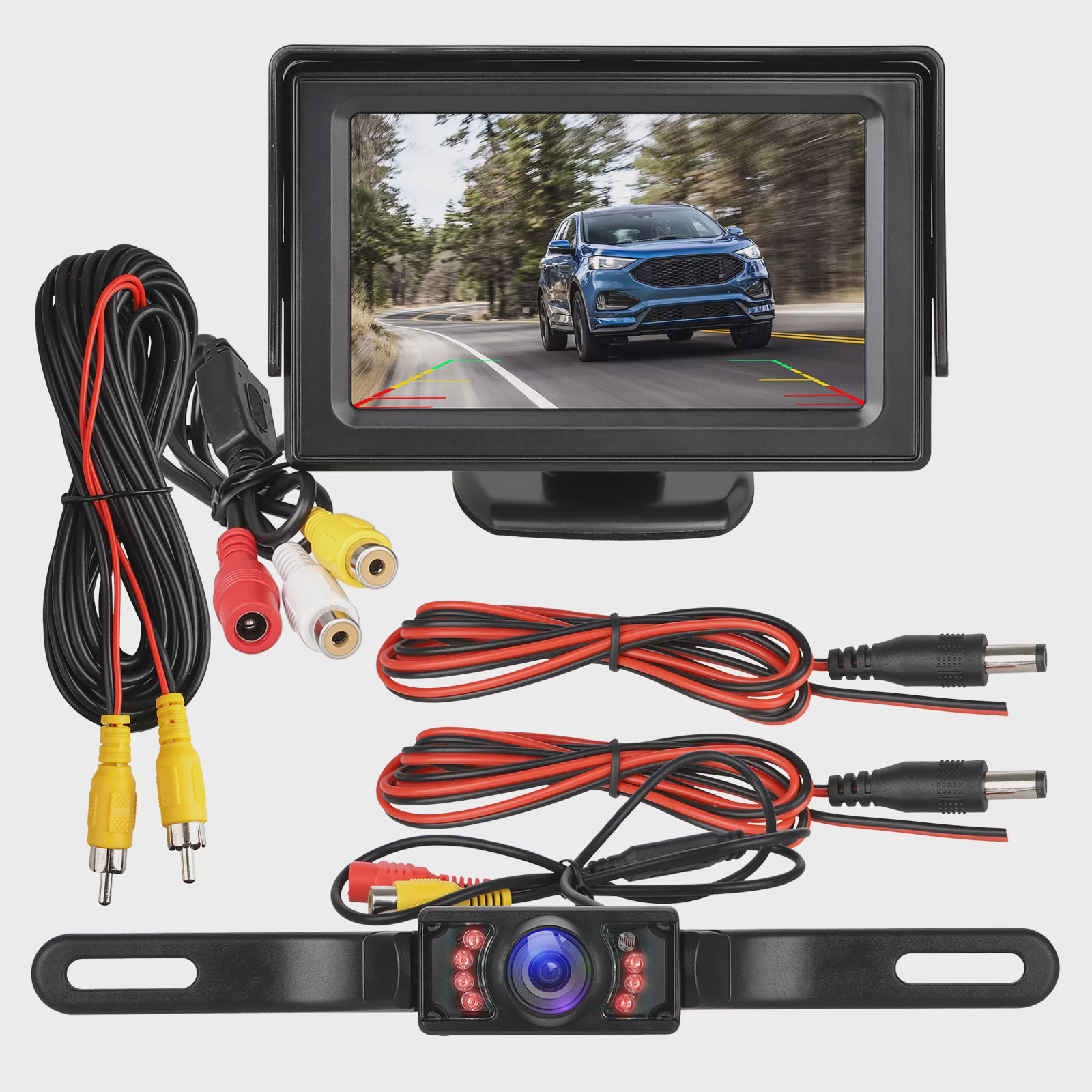 Vehicle Backup Cameras And Car 7 Inch Monitor Screen Waterproof Rear View For