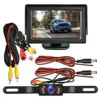 EEEkit Backup Camera and Monitor Kit  Waterproof  4.3 Display 7 LED License Plate Rear View Camera Parking System IR Night Vision For Car/Vehicle/SUV/Van/Campe