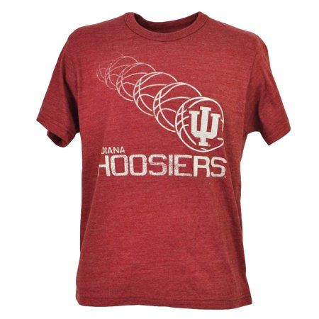 - NCAA Indiana Hoosiers Basketball Burgundy Tshirt Tee Short Sleeve Crew Neck XL