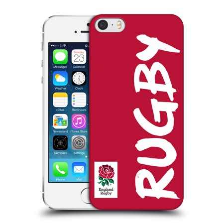 OFFICIAL ENGLAND RUGBY UNION 2016/17 THE ROSE HARD BACK CASE FOR APPLE IPHONE PHONES Sweet Apple Block