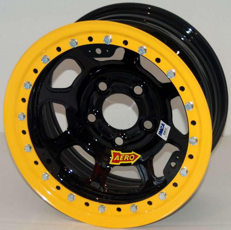 "Aero Race Wheels 53-Series 15x7"" 5x4.75 Black Wheel P/N 5..."