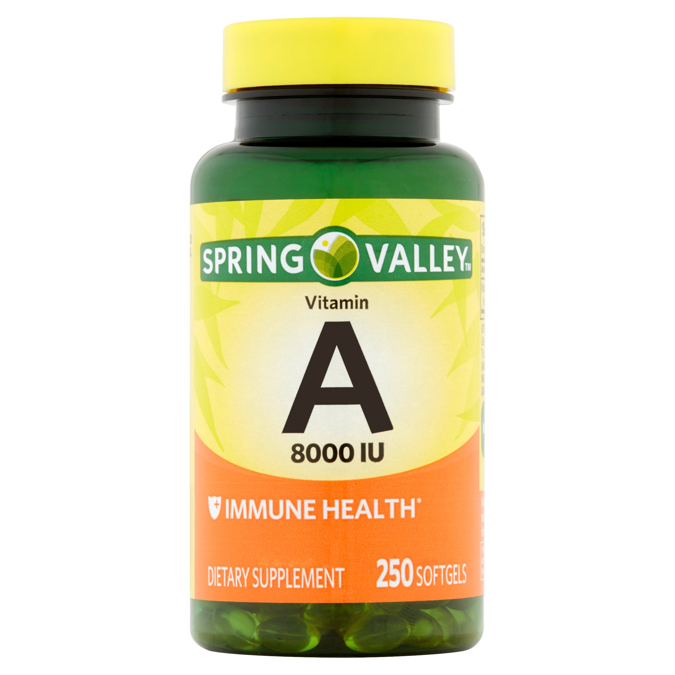 Spring Valley Vitamin A Softgels, 8000 IU, 250 Ct