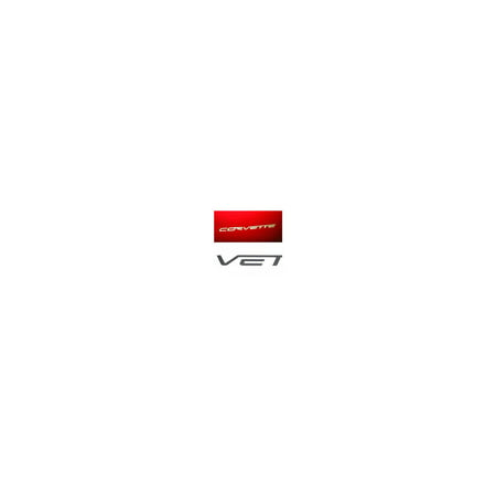 Eckler's Premier  Products 25163087 Corvette Rear Bumper Lettering Kit Carbon Fiber