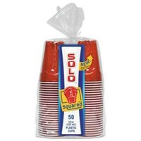 Solo Squared Plastic Party Cups, 18-oz, Red & Blue, 600 Cups