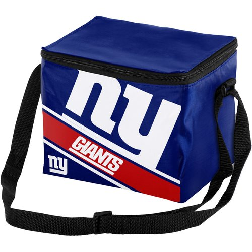 Forever Collectibles Big Logo Stripe 6 Pack Cooler, New York Giants