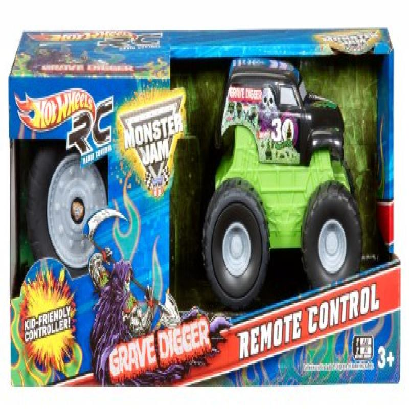 Hot Wheels R/C Monster Jam Mini Rides Grave Digger Vehicle